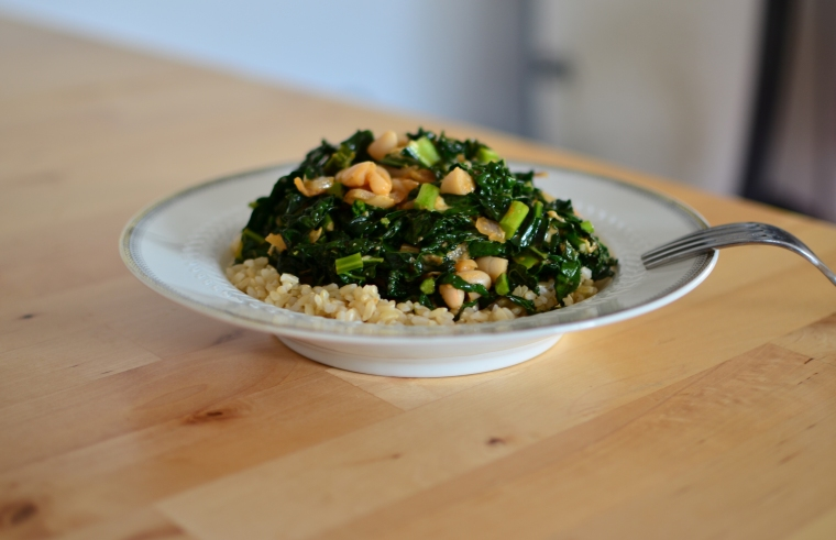 Kale_brown rice